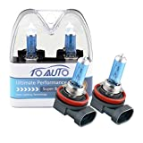 TOAUTO 2 X H8 35W 12V Car Headlight Lamp Halogen Light Super Bright Fog Xenon Bulb White