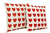 Heart Pillowcase - Decorative - 2 Pack - Soft & Decorative - Great as Gifts - For Cushions Or Pillows On Bed, Car Seat, Couch, Sofa
