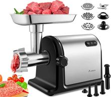 Aobosi-Electric-Meat-Grinder-2000W-Max-Heavy-Duty-Stainless-Steel-Meat-Mincer-with-3-Grinding-Plates-3-Sausage-Stuffer-Tubes-Kubbe-AttachmentsEasy-One-Button-Control