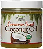 Primal Essence Organic Coconut Oil, Cinnamon Sweet, 8 Ounce
