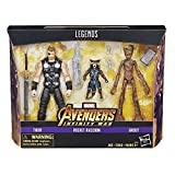 Marvel Legends Figura Thor y Rocket & Groot Avengers, 6 Pulgadas