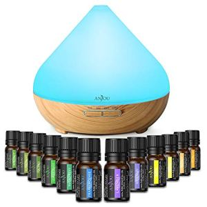 Essential Oil Diffuser Set for Mother's Day Gift, Anjou Ultrasonic Aromatherapy Diffuser with 12 Essential Oils Plant… 10