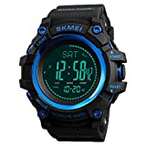 Watch Compass, Altimeter Barometer Thermometer Temperature, Pedometer Watch, Military Army Waterproof Outdoors Sport Digital Watch for Men Women