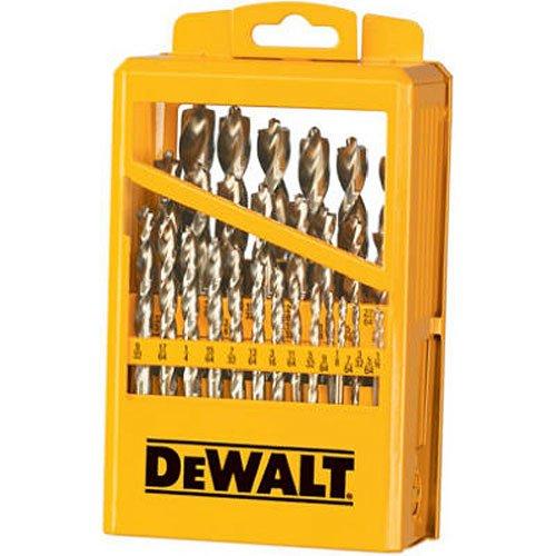 DEWALT DW1969 29 Piece Pilot Point Twist Drill Bit Assortment with Metal Index