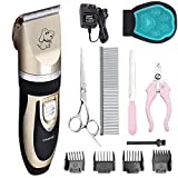 Product review for Pet Grooming Clipper Kits Low noise Dog and Cat Rechargeable Cordless Electric Clipper Animal Haircut Machine
