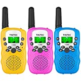 Tintec 3 Pack Walkie Talkies, 22 Channels 2 way Radio Toy with Backlit LCD Flashlight, 3 Miles Range for Kids, Outdoor Adventures, Camping, Hiking