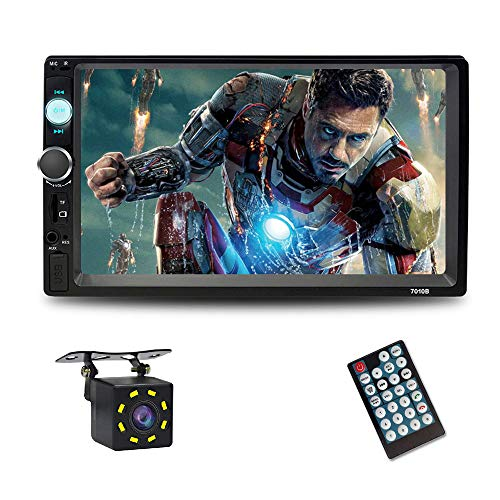 7 Inch Double Din Touch Screen Car Stereo with Bluetooth car Stereo MP5 Player Car Radio Audio car Stereo Player Support SD/USB/AUX/Rear View Camera/Remote Control