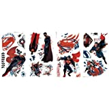RoomMates RMK2261SCS  Superman Man Of Steel Peel and Stick Wall Decals