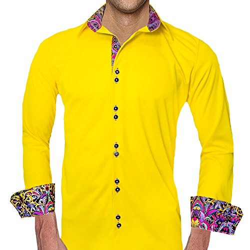 63492da503cfdb Yellow with Purple Moisture Wicking Dress Shirts - Made in the USA ...