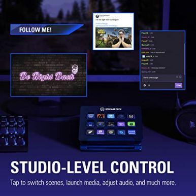 Elgato-Stream-Deck-Live-Content-Creation-Controller-with-15-Customizable-LCD-Keys-Adjustable-Stand-for-Windows-10-and-macOS-1013-or-late