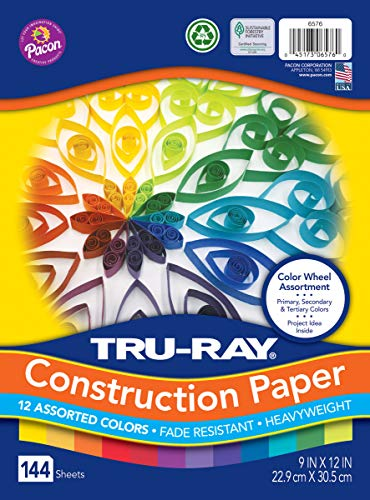 Tru-Ray Heavyweight Construction Paper, Color Wheel Assortment, 9