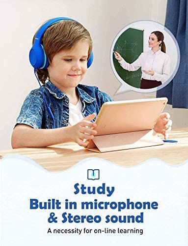 Mpow CH6S Kids Headphones with Microphone Over Ear, On Ear Headphones for Kids with HD Sound Sharing Function for Children Boys Girls, Volume Limit Safe 85dB,94dB Headset for School, Travel 13