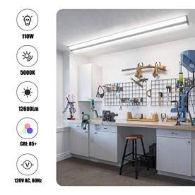 FaithSail-8FT-LED-Shop-Light-110W-LED-Wraparound-Ultra-Slim-Strip-Lights-12600-Lumens-5000k-LED-Garage-Lighting-8-Foot-LED-Strip-Light-for-Office-Workshop-Fluorescent-version-Replacement-2-Pack