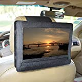 Car Headrest Mount Holder for DBPOWER 10.5' Portable DVD Player with Swivel and Flip Screen and Fits Other 10-10.5' Swivel Screen Portable DVD Player - Black