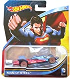 Hot Wheels, 2015 DC Comics Character Car, Superman Man of Steel Die-Cast Vehicle, 1:64 Scale