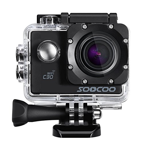Sports Camera, SOOCOO 4K Action Camera 20MP 2.0 Inch Waterproof Diving Camera with 2 Batteries and 18 Accessories Kit Included – Wifi