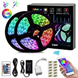 LED Strip Lights, L8star Color Changing Rope Lights 32.8ft(10m) SMD 5050 RGB Light Strips with Bluetooth Controller Sync to Music Apply for TV, Bedroom, Party and Home Decoration (32.8ft)