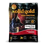 Solid Gold High Protein Dry Dog Food; Grain-Free With Real Buffalo; 22 Lb