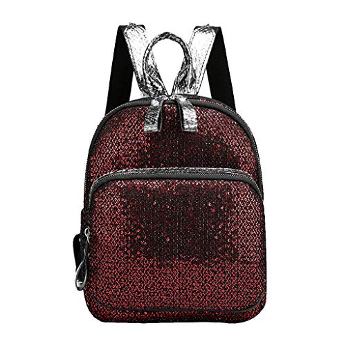 zitan School Backpack for Girls Students Magic Glitter Lightweight Travel Backpack Cute Elementary Book Bag Bookbag Teen Glitter Sparkly Back Pack