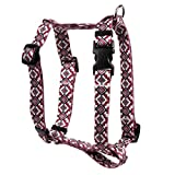 Yellow Dog Design Aztec Red Roman Style H Dog Harness, Small/Medium