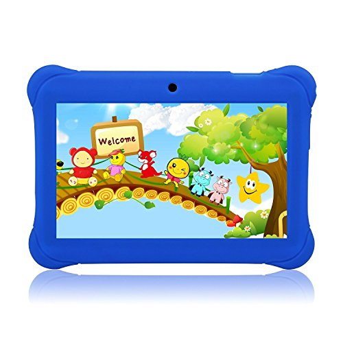 Tagital 7' T7K Quad Core Android Kids Tablet, with Wifi and Camera and Games, HD Kids Edition with Kid Mode Pre-Installed (Blue)
