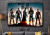 Justice League Batman Movie Framed Canvas Art Print - Movie Print - Wall Hanging