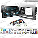 Volunteer Audio Kenwood DPX593BT Double Din Radio Install Kit with Bluetooth, Sirius XM Ready, CD Player Fits 2005-2011 Non Amplified Toyota Tacoma (Silver Textured)