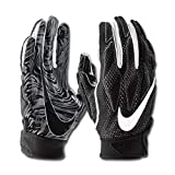 Nike Men's Super Bad 4.5 Football Gloves Black/White (Large, Black/White)