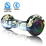 SWEETBUY Hoverboard Self Balancing Scooter 6.5' UL2272 Certified Electronic Scooter (White-led)