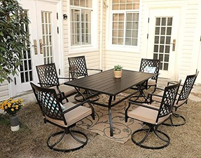 PHI-VILLA-Outdoor-Patio-60-x-38-Rectangle-Dining-Table-for-6-8-Person-with-Umbrella-Hole-Classic-Black