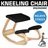 Product review for Happybuy Bentwood Ergonomic Kneeling Chair Office Study Chair Comfortable Relieve Fatigue Perfect for Body Shaping