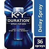 K-Y Duration Spray for Men - Last Longer and Stay in the Moment, 36 sprays / 0.16 fl oz