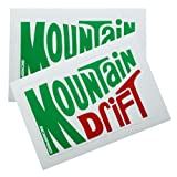 2Pc Mountain Drift Dew Soda Vinyl Sticker Decal Stickerbomb Bomb Funny Spoof for Toyota FJ Cruiser