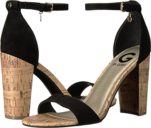 51N54dAW5HL Elevate your look with these sleek heels. Textile upper. Ankle strap features a buckle closure.