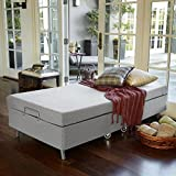 Zinus Memory Foam Resort Folding Guest Bed with Wheels, Standard Twin