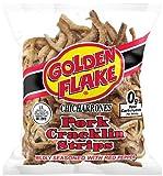 Golden Flake Pork Cracklins W/Red Pepper Seasoning 3.50 oz (Pack 8)