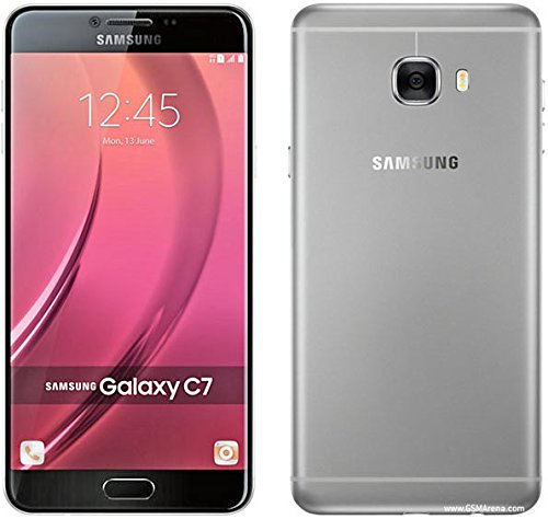 "Samsung Galaxy C7 C7000 64GB Dark Gray, Dual Sim, 5.7"", GSM Unlocked International Model, No Warranty"