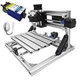 Mophorn Cnc Machine 2418 Grbl Control Cnc Router Kit 3 Axis Pcb Laser Engraver 240X180X40Mm With 500mW Blue Light Laser Module and Lamp