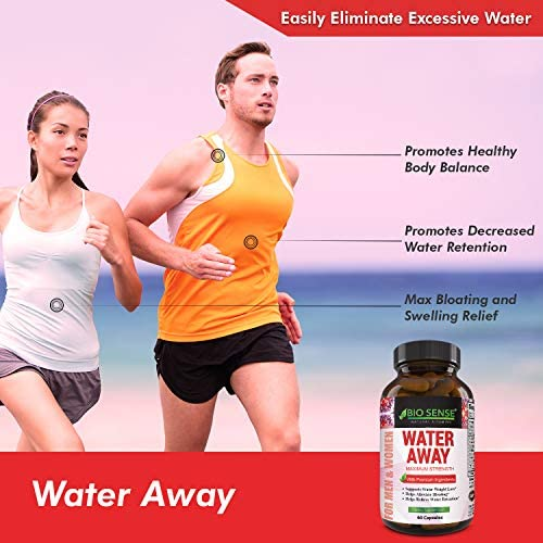 Natural Diuretic Water Away Pills Vitamin B6 Potassium & Dandelion Root Extract Water Retention Anti-Bloating and Swelling Capsules Weight Loss for Women & Men with Antioxidant Green Tea by Bio Sense 7