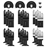 Werkzeug Oscillating Saw Blades, Universal blades Multi Tool Quick Release Saw Blades Kit for Metal, Wood and Plastic Cutting Oscillating Tool Fit Dewalt, Porter Cable, Ryobi, Fein Multi, 23 Pieces