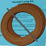 Highland Baseball Glove Lacing Kit, 2 Leather Laces 72 Inches Long, 1 Leather Lacing Needle, Lacing Guide, Softball Glove Lace. (Tan)