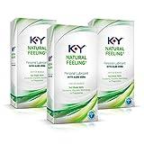 K-y Natural Feeling Personal Lubricant Gel with Aloe Vera (Pack of 3)