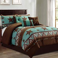 Western Brown Star Comforter Set