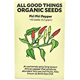 Piri Piri/African Bird's Eye Chili Pepper (Capsicum frutescens) Seeds (~40): Certified Organic, Non-GMO, Heirloom, Open Pollinated Seeds from The United States