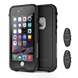 iPhone 6/6s Waterproof case with 2 Case Openers, OUNNE Shockproof IP68 Certified with Touch ID Sand Proof Snowproof Full Body Cover for iPhone 6/6s(4.7inch)-Black