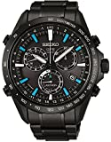 Seiko Solar SS Chronograph GPS Controlled Black Dial Men's Watch SSE013