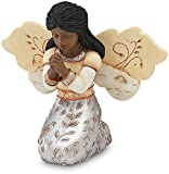 Elements in Faith Ebony Angel Figurine by Pavilion, 3-1/2-Inch, Praying