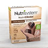 Nutrisystem NutriCRUSH Shake Mix - Chocolate, 20g Protein (20 ct Case) - On The Go Protein Shakes to Support Healthy Weight Loss