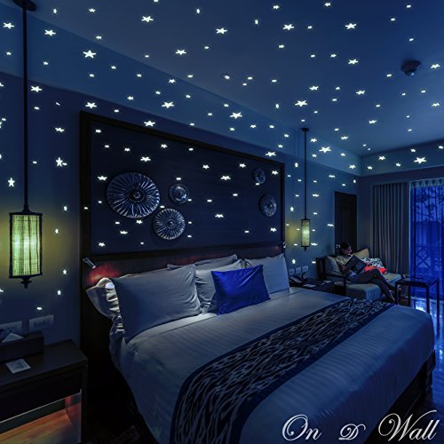 Glow In The Dark Stars And Dots 332 3D Wall Stickers For Kids Bedroom Gift Beautiful Glowing Wall...