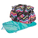 Trend Lab Modern Deluxe Duffle Diaper Bag, Chevron